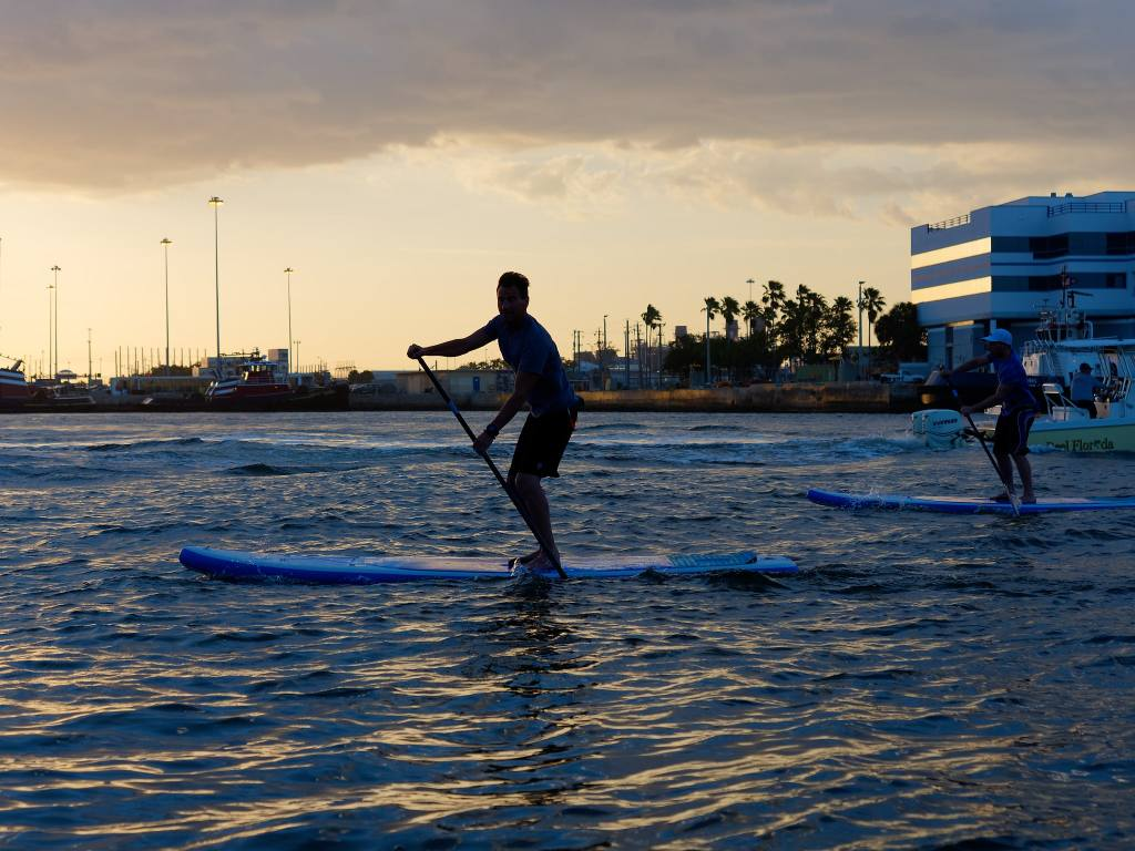 ERS Skylake blue paddle board near surf shop