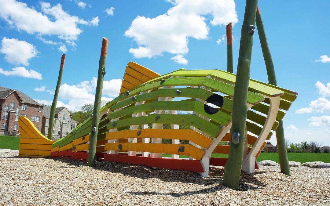 Custom Play Structure Tasca Park Fish Earthscape Play