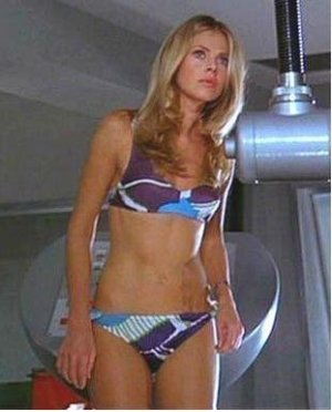 "Britt Ekand as Mary Goodnight in the Bond movie ""The Man With The Golden Gun"""