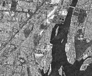 Sentinel 1 image Cross-Pol: a particular of Detroit River International Wildlife Refuge