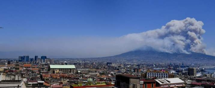 Wildfires observed from Naples