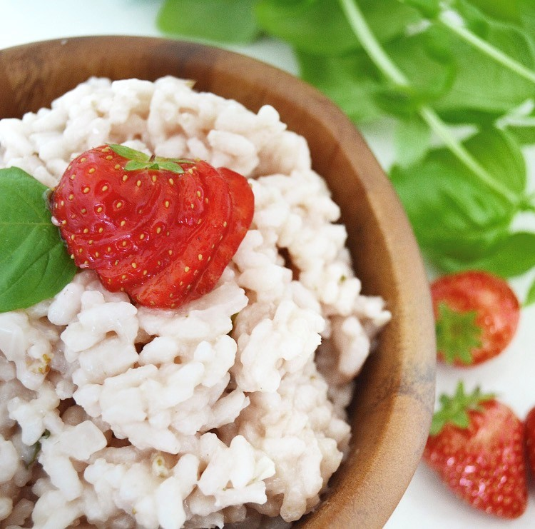 Vegan Scrumptious Strawberry & Balsamic Risotto