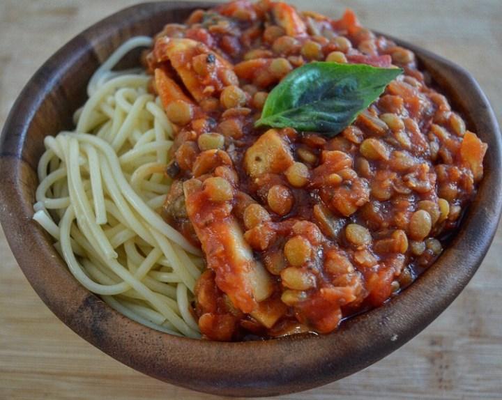 Skinny-minnie Lentil Spaghetti