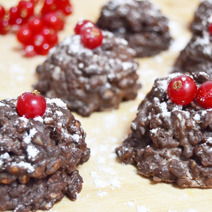 Vegan Dark Chocolate & Coconut Christmas Pudding Cakes