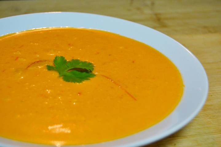 Creamy Dreamy Vegan Roasted Pepper & Coconut Soup