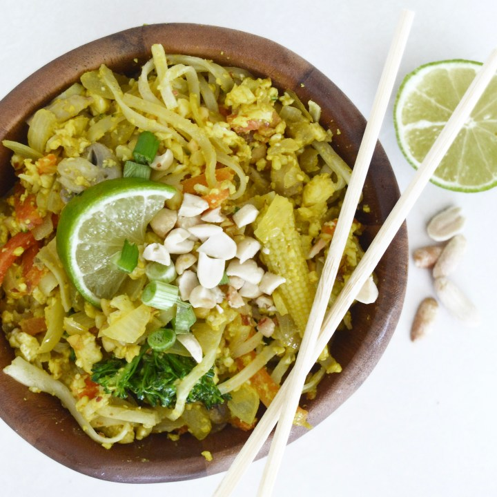 Easiest Vegan Pad Thai From Scratch (With Scrambled Tofu – yay!)