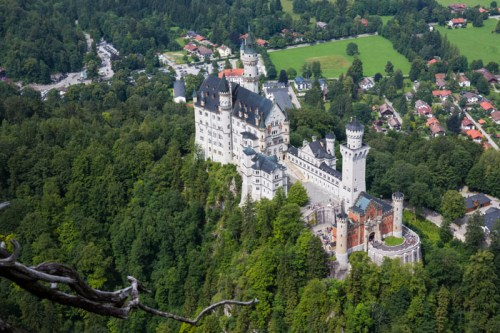 View over Neuschwanstein