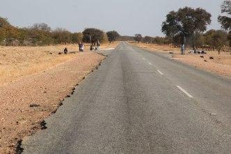 The road to Kasane, Botswana