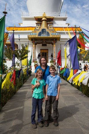 In front of the chorten