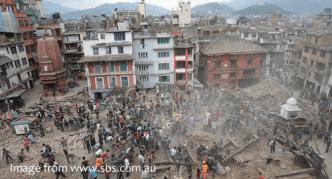 Durbar Square in Kathmandu after the earthquake