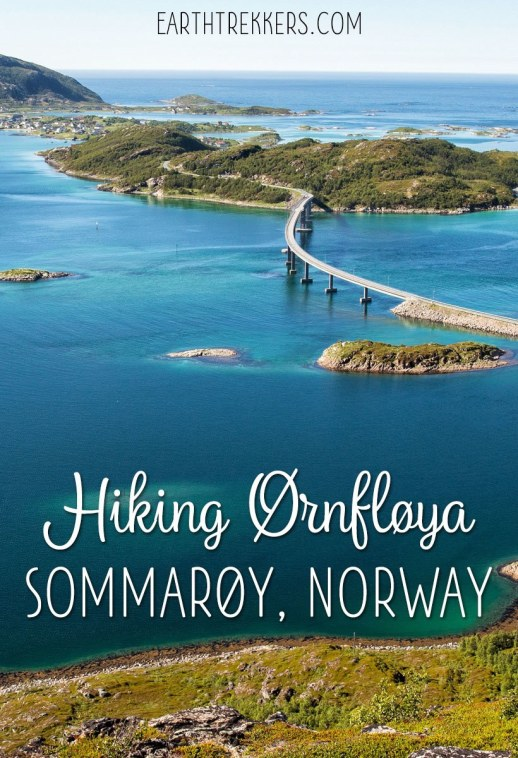 Hiking Ornfloya Sommaroy Norway