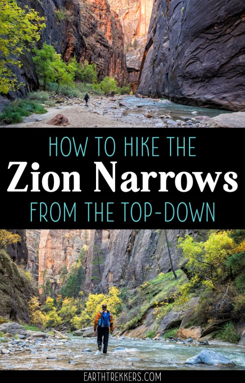 Zion Narrows Top Down Hike