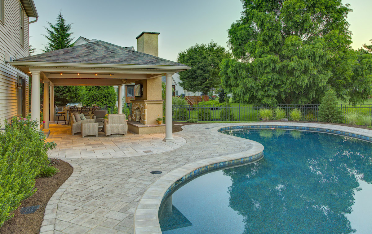 Lancaster, PA Landscape Design Case Study: Pool Patio ... on Outdoor Patio Pavilion id=35562