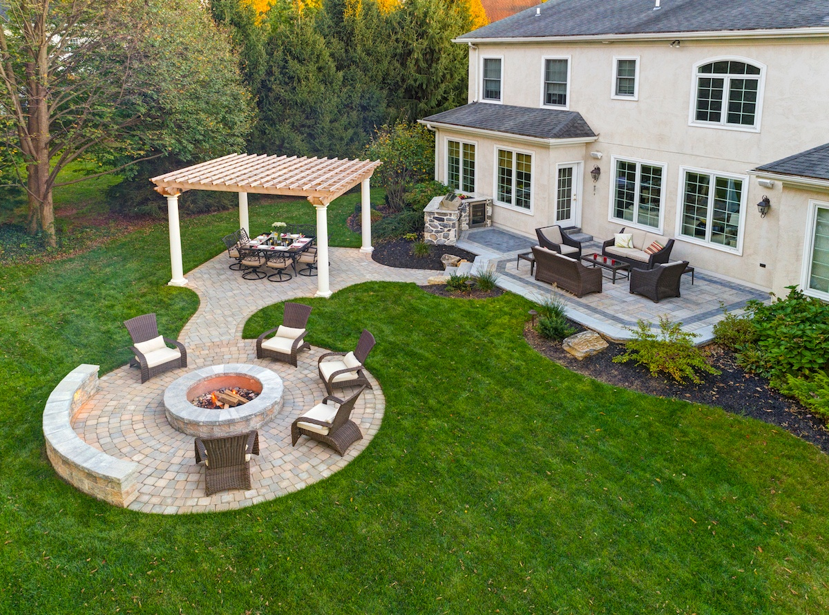 The Boring Patio Makeover: Ideas and Tips to Bring Your ... on Paver Patio Designs With Fire Pit id=39832