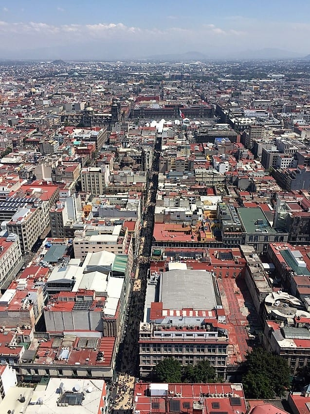 mexico city travel guide: panoramic view from latinoamerica building