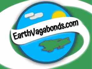 earthvagabonds.com logo with globe, sun, clouds