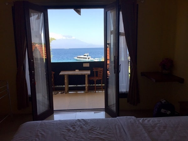 the view from Deva Devi hotel in Nusa Penida in the travel alert about hotel booking issues