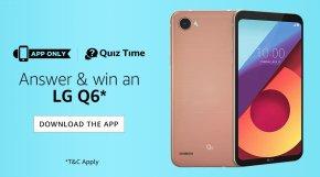 AMAZON LG Q6 QUIZ ANSWER