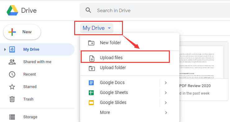 Google Drive Open RTF File