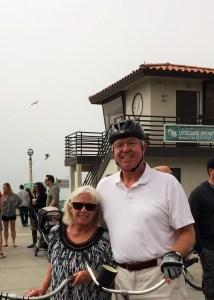Bikers at Manhattan Beach Pier