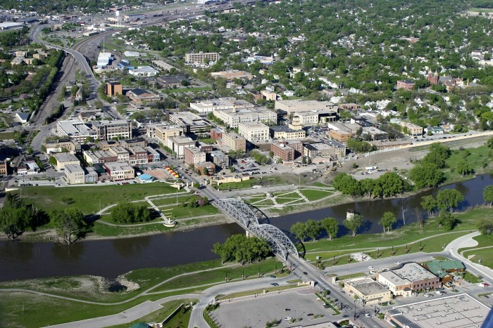 Aerial view of Grand Forks Photo by Brenda Riskey/UND