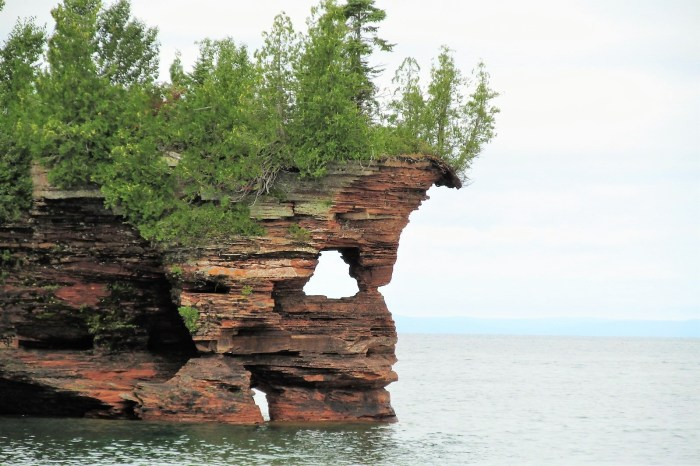 Sculptured cliffs, Apostle Islands National Lakeshore