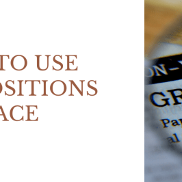 How to use Prepositions of Place