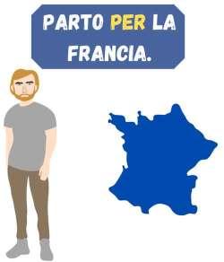 parto per la francia