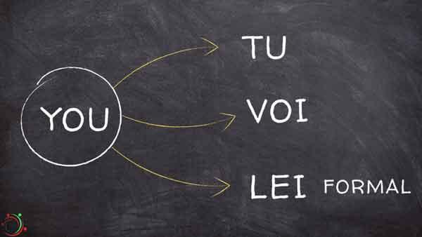 you - tu/voi/lei(formale)