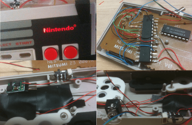 Wireless NES Controller – Eason Robotics on playstation 3 connections diagram, joystick connection diagram, ps3 diagram, nes controller circuit, xbox 360 controller diagram, nes four score, nes controller disassembly, nes to usb, nes controller cable, nes pinouts, nes joystick, nes controller plug, nes controller dimensions, nes controller schematic,
