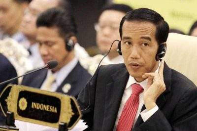 Indonesian President Joko Widodo listens during the 2nd ASEAN-United States Summit, part of the 25th Association of South East Asian Nations (ASEAN) and Related Summits at the Myanmar International Convention Center in Naypyitaw, Myanmar, 13 November 2014. (Photo: AAP).