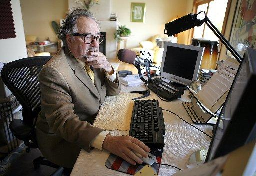 This Dec. 3, 2007 file photo shows conservative radio talk show host Michael Savage in Tiburon. (AP Photo/John Storey, File)
