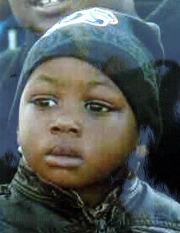 Hiram Lawrence Jr., killed in West Oakland on Nov. 28, 2011, a month before his 2nd birthday. The boy was leaving a liquor store with his father, Hiram Lawrence, at about 6 p.m. when three men turned a corner and fired into a crowd in the parking lot. A bullet struck the baby boy, leaving him a coma for 11 days before his family took him off life support. (Family photo)