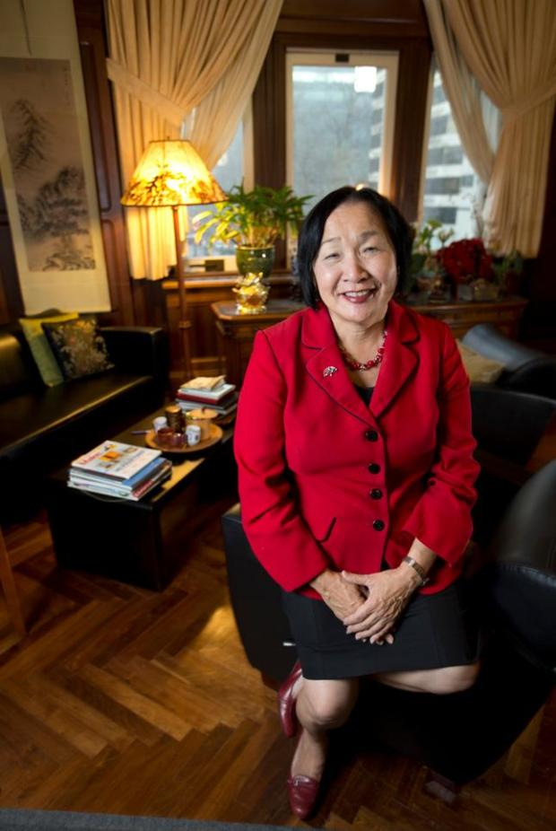 Mayor Jean Quan poses for a photograph in her City Hall office, Monday, Dec. 22, 2014, in Oakland, Calif. Quan's term ends in January, when current City Councilmember Libby Schaaf will assume the top job. (D. Ross Cameron/Bay Area News Group)