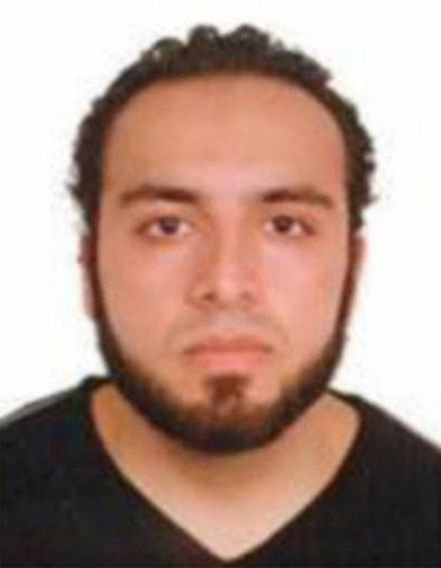 This undated photo provided by the FBI shows Ahmad Khan Rahami, wanted for questioning in the bombings that rocked a New York City neighborhood and a New Jersey shore town was taken into custody Monday, Sept. 19, 2016, after a shootout with police in New Jersey, a law enforcement official told The Associated Press. (FBI via AP)