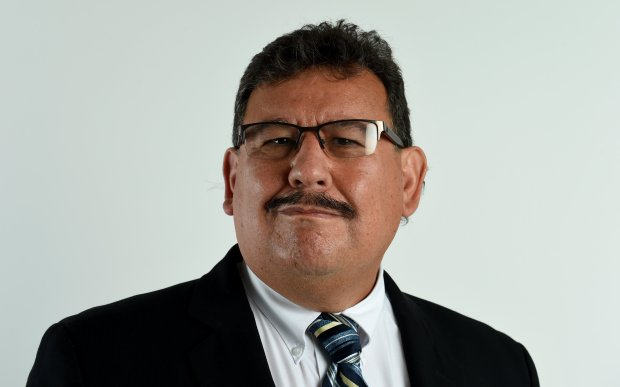 Contra Costa College Community College District Governing Board candidate, Fernando Sandoval, 61, of Pittsburg, is photographed at the East Bay Times in Walnut Creek, Calif., on Thursday, Oct. 27, 2016. (Susan Tripp Pollard/Bay Area News Group)