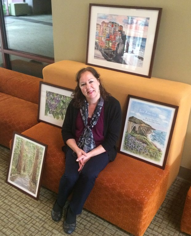 Watercolorist Elizabeth Kennen is showing some of her works at the East Bay Artists Guild's A Fall Fine Arts Fair on Oct. 29, at the Pleasant Hill Senior Center.