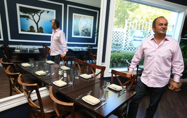 Owner Enzo Rosano is photographed in his restaurant Locanda Ravello on Tuesday, Oct. 11, 2016, in Danville, Calif. (Aric Crabb/Bay Area News Group)