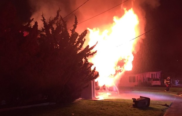 One person died early Tuesday in a one-alarm house fire on the 1800 block of Grove Way in Castro Valley. (Alameda County Fire Department)