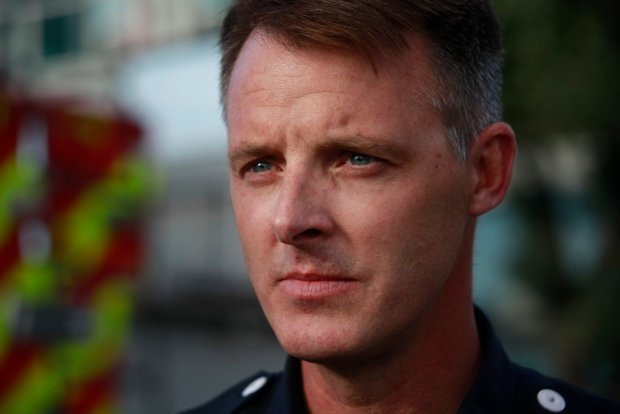 Capt. Christopher Foley of the Oakland Fire Department, describes on Tuesday, Dec. 6, 2016, his work responding to the deadly Ghost Ship fire in Oakland, Calif. (Karl Mondon/Bay Area News Group)