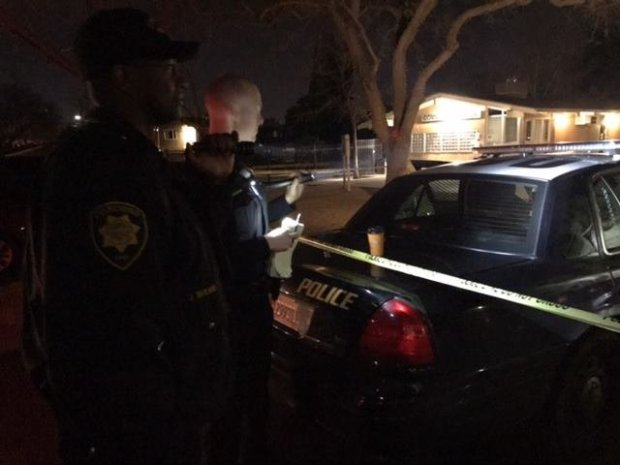 Concord police shared this image of officers outside a Lani Kai Drive home after a fight with another man led to an afternoon shooting Sunday, Jan. 29, 2017.