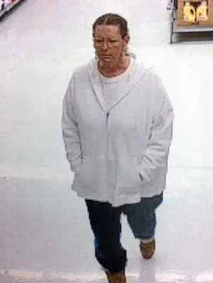 Surveillance footage of the suspect accused of grabbing at least three individuals at a Vacaville Wal-Mart this week. Wednesday, Vacaville police confirmed the woman had been detained. (Photo courtesy of the Vacaville Police Department )