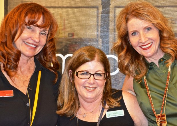 Macy's Walnut Creek personal shoppers teamed up with Dawnie Rocca, center, Alamo Women's Club member and co-founder of a new nonprofit, Friday Night Out, which provides social events for special needs teens and adults, who recently modeled in a fashion show. More than $4,000 was raised to support future programs. (Courtesy of Peggy Fleming)