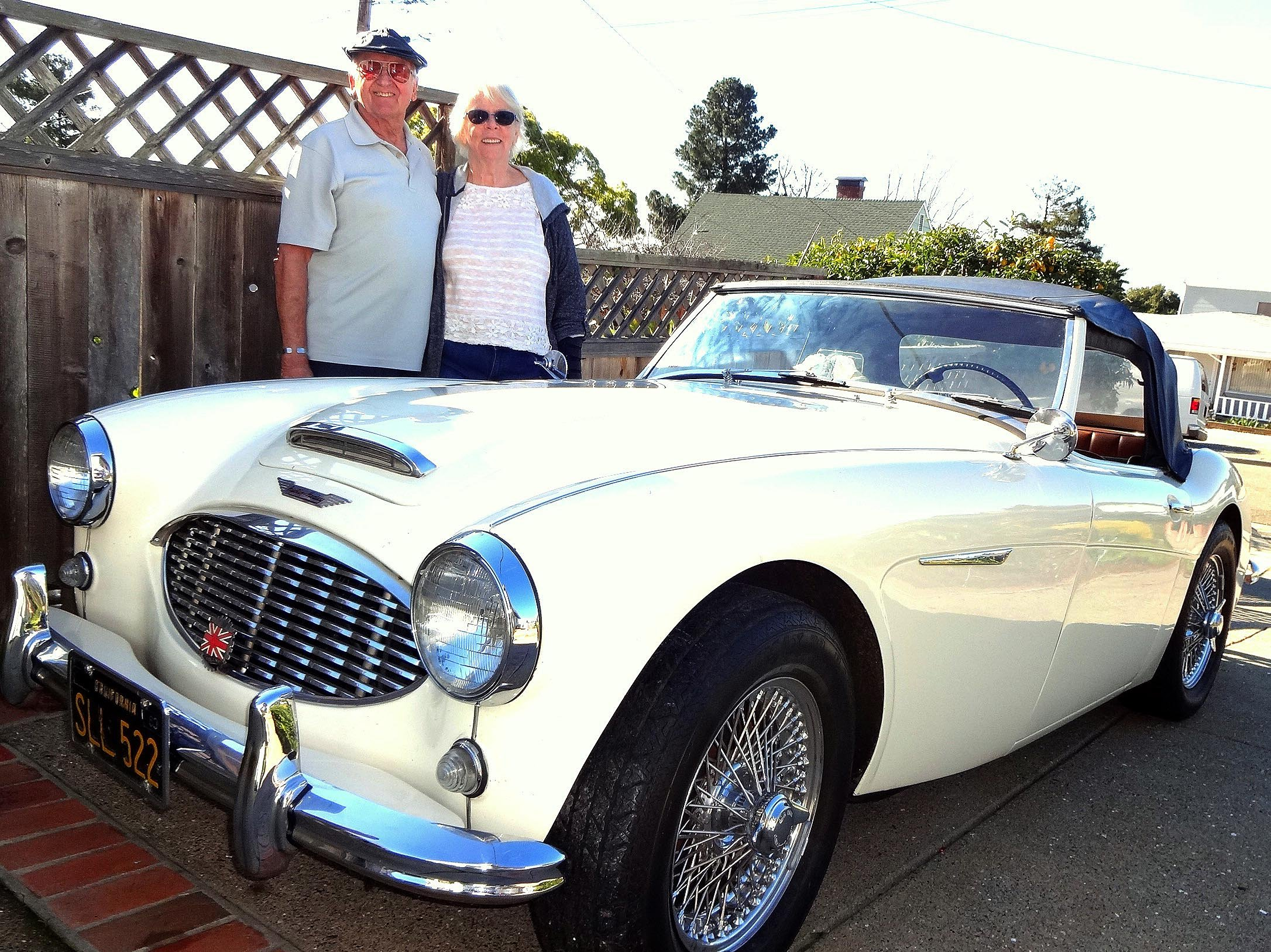 Me   My Car  Casual drive results in  61 Austin Healey Glenn and Karen Stephenson  of Richmond  are seen with their 1961 Austin  Healy in Richmond  Calif   in Feb  2017   Photo by David Krumboltz