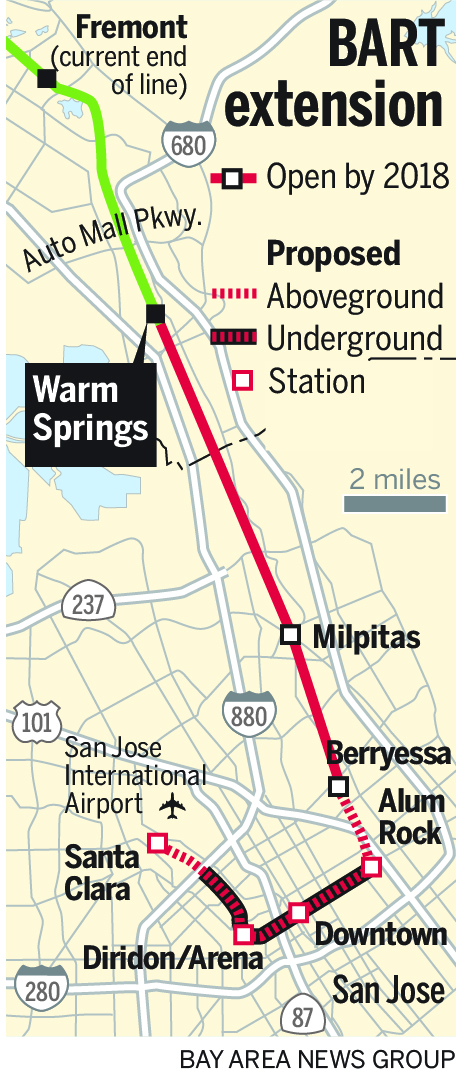 warm springs bart