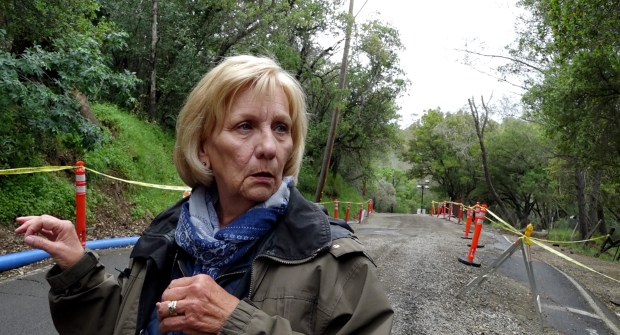 Carolyn Reed said she's glad Morgan Territory Road is open once again, nine months after a rain-soaked hillside moved, damaging the road. But she's also grateful for getting to know nearby residents she either had never met or hadn't seen in years. (Susan Tripp Pollard/Bay Area News Group)