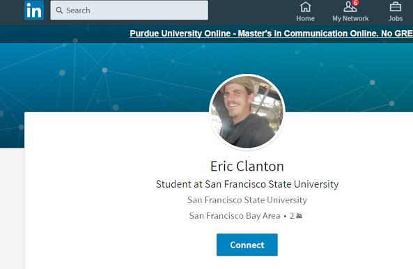 Eric Clanton's LinkedIn page