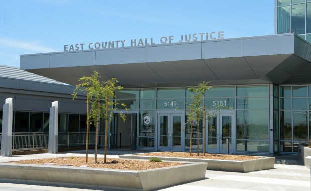 The new East County Hall Of Justice is photographed in Dublin, Calif., on Friday, June 2, 2017. Starting in July, all criminal arraignments at the Alameda County Superior Court will take place at the new East County Hall of Justice.(Doug Duran/Bay Area News Group)