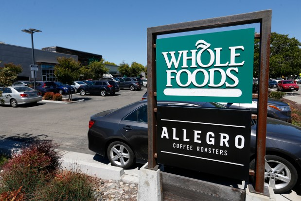 A view of the Whole Foods Market on Gilman Street in Berkeley, Calif., on Monday, June 26, 2017. (Jane Tyska/Bay Area News Group)