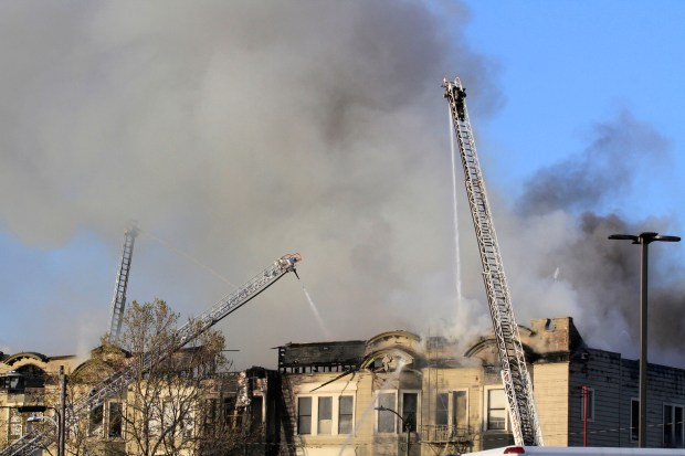 """Oakland firefighters checked a """"referral"""" box in the department's software in an attempt to flag inspectors to visit the halfway house on San Pablo Avenue, but the program had a flaw and nothing was inspected for two years. The building burned down March 27, killing four people. (Laura A. Oda/Bay Area News Group Archives)"""